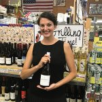 Stephanie Deschenes from Johnson Bros. of Rhode Island during the in-store tasting of Whitehaven and J Vineyards Wines.