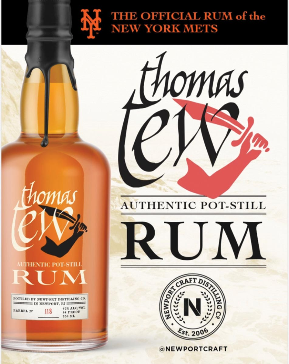 Thomas Tew Rum Partners with the New York Mets