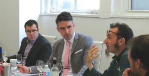 A panel of sommeliers: Fred Dexheimer, MS; Paul Greico; Luke Boland; Chris Raftery.