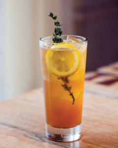 Sweet Texas Tea at CBD Provisions in Dallas combines housemade black tea syrup with bourbon, lemon, bitters and mint.