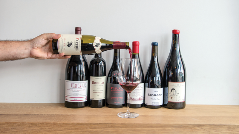 A lineup at Beaujolais-happy Freek's Mill.