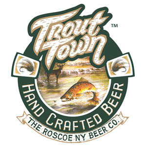 Roscoe NY Beer Co.'s Trout Town American Amber Ale.