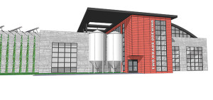 A projected drawing of the expansion of Two Roads Brewing Company in Stratford.