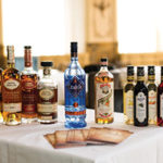 Pierre Ferrand Cognac, Citadelle Gin, Dry Curacao Orange and Mathilde Liqueur on display during the event.