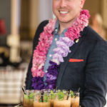 Sean Frederick of Maison Ferrand with Plantation Rum cocktails.
