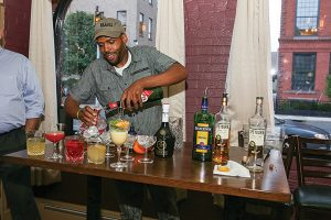 Khalid Williams of Taprock Beer Bar & Refuge. Williams won second place at the competition.