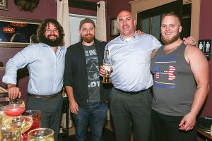 The event judges during the sixth competition at Little River Restoratives included Chris Munk, Craft Spirits Specialist, Eder Bros.; Anthony DeVito, Max Amore; Jeff Conelius, Craft Spirits Specialist, Allan S. Goodman; Dan Rek, Elm City Social.