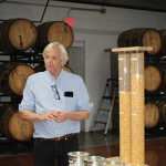 Second stop: Litchfield Distillery. Co-owner Jack Baker presented the product line, called Batchers' series, which includes five spirits: Bourbon Whiskey, Double Barreled Bourbon Whiskey, Bourbon Whiskey Port Cask Finish, Vodka and Gin.