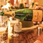 A pour of Veuve Clicquot Brut. Photo Courtesy Blaise Pope.
