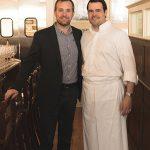 Casenave with Chef Dan Magill, Arethusa al tavolo.