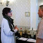 Elana Effrat, Spirits Manager, Winebow with James Rivera, Manchester Wine and Liquor.