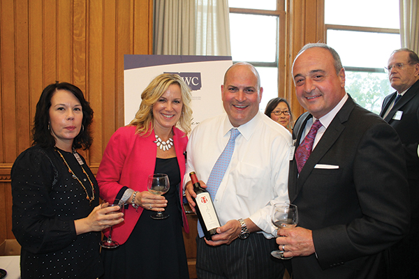 Carrie Rand; Lori Bates; Scott Randall, Vice President of Sales Opici Family Distributing; Larry Cafero, Executive Director, Wine & Spirits Wholesalers of Connecticut.