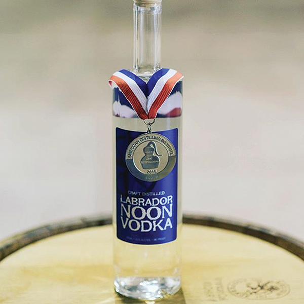 Waypoint Spirits wins Medal for Labrador Noon Vodka