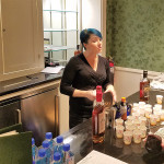 Alexa Doyer, Principal Bartender form Hartford's Little River Restoratives pouring Old Fashioned cocktails made with Litchfield Distillery's Bourbon Whiskey.