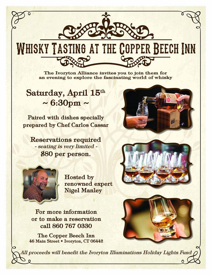 April 15, 2017: Ivoryton Village Alliance Hosts Whisky Tasting