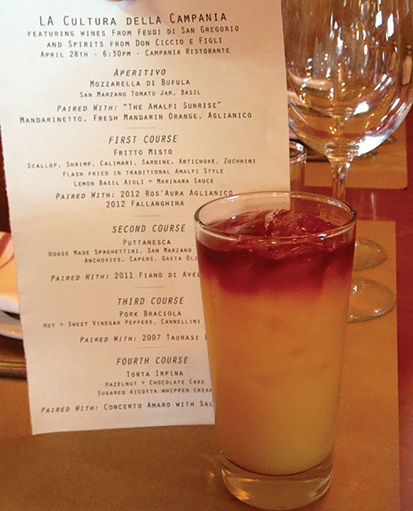 WINE AND COCKTAIL DINNER SERIES SHINES SPOTLIGHT ON ITALY