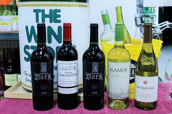 The Wine Store in Westerly featured Apothic Dark, Chateau La Grange Clinet, Alamos Torrontes and Frei Bothers Reserve Chardonnay among brands for a recent tasting