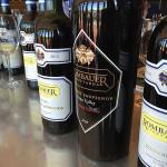 Rombauer wines on display.