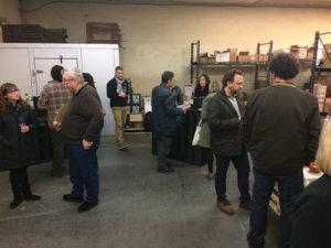 The tasting was held in The Wine Bros. warehouse in Rumford, Rhode Island.