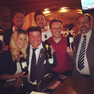 Back row: Ron Solevo, Joe Solevo. Front row:  Giovannina Solevo, Antonello Cozzula, Fine Wine Manager, Palm Bay; Anthony DeSerio, Sales Representative, Worldwide Wines and President United States Bartenders Guild Connecticut Chapter; Gianpiero Peru, Connecticut State Manager, Genesis Division, Palm Bay.