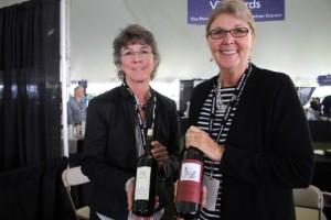 Jennifer Lamb, Owner, Herb Lamb Vineyards and Erica Russo, employee of Herb Lamb Vineyards in St. Helena.