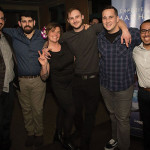 Bartenders Anthony Guaetta, Twin River Casino; Ben Terry, New Harvest Coffee Roasters; Kayleigh Speck, The Grange; Greg Mayer, Winner, The Dorrance; Corey Hayes, Fluke Wine Bar and Kitchen; and Marco Meza, El Rancho Grande.