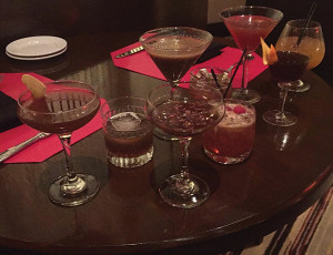 Collection of cocktails.