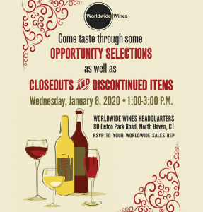 Worldwide Wines Trade-Only Winter Opportunity Tasting @ Worldwide Wines | North Haven | Connecticut | United States