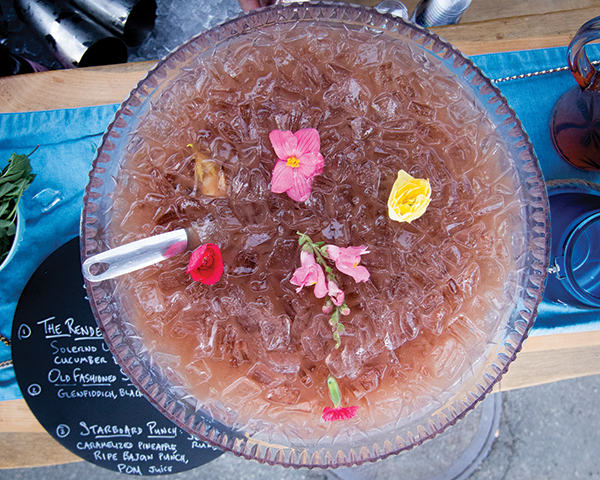 A cocktail punch featured during the Yacht Hop.